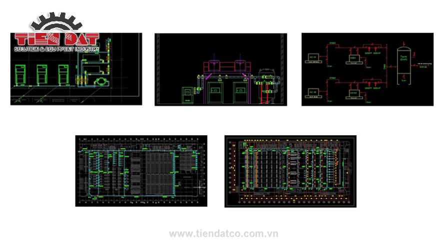 sơ đồ thiết kế hệ thống khí nén công nghiệp tại Việt Nam