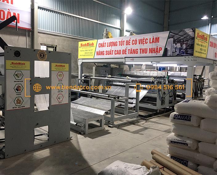 Máy lạnh công nghiệp cho ngành sản xuất cuộn xốp hơi, vật liệu cách nhiệt